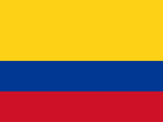 Flag Representing COLOMBIA